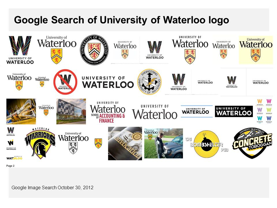 Google Search of University of Waterloo logo Google Image Search October 30, 2012