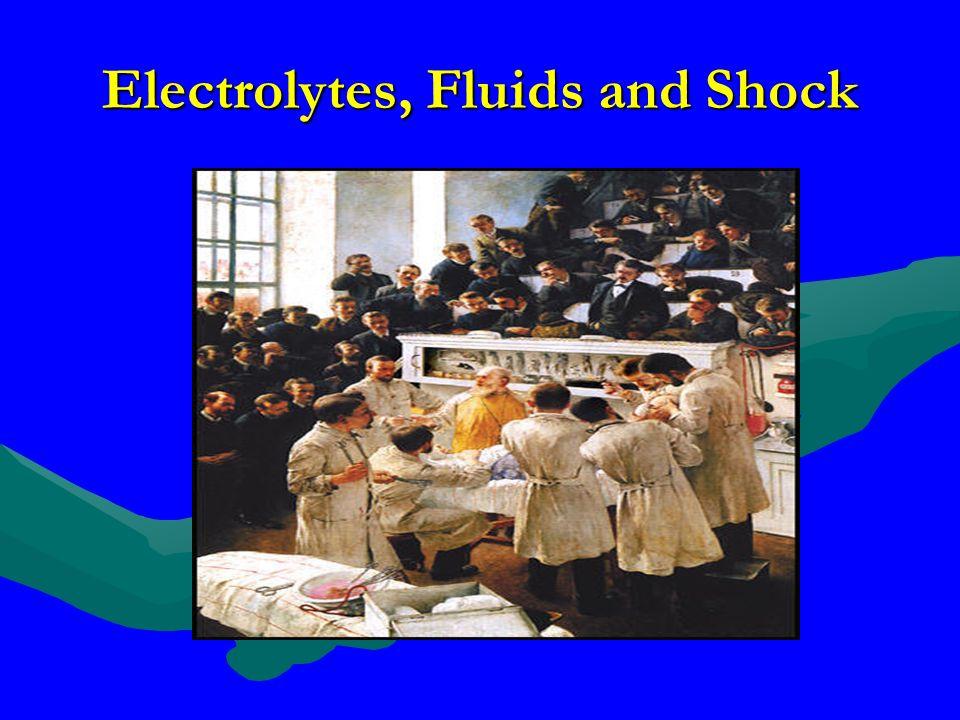 Electrolytes, Fluids and Shock