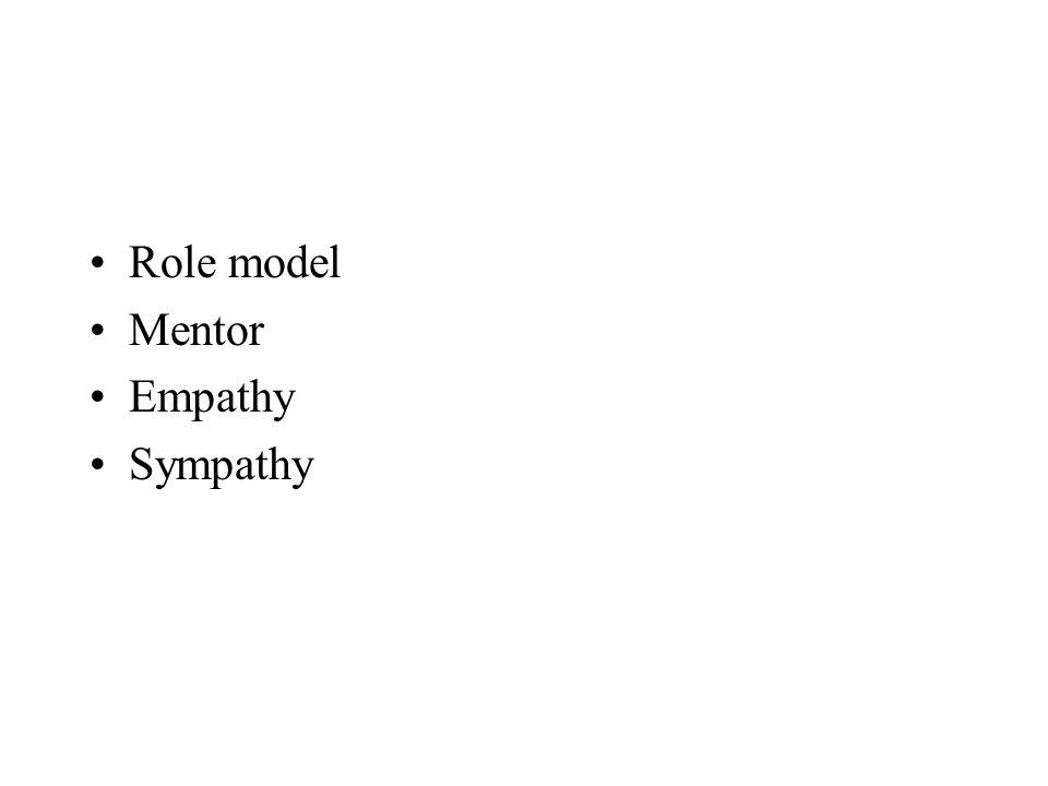 Role model Mentor Empathy Sympathy