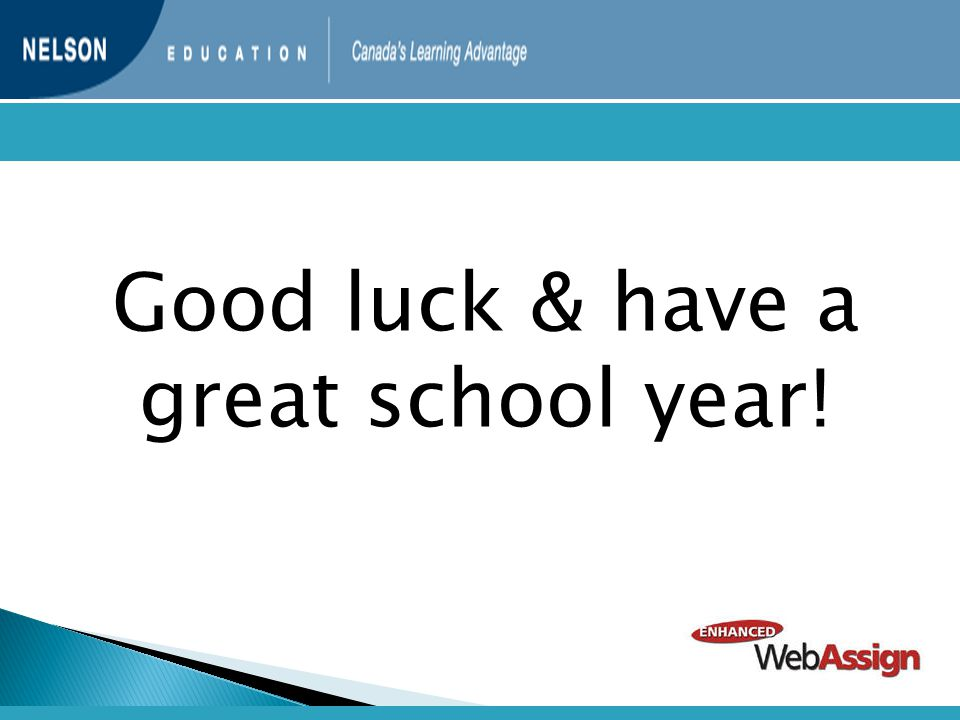 Good luck & have a great school year!