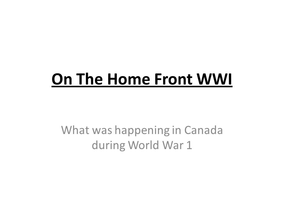 A lot of the men in Canada left for war and therefore women were expected to work in the factories and on the farms, a job primarily completed by men at the time.