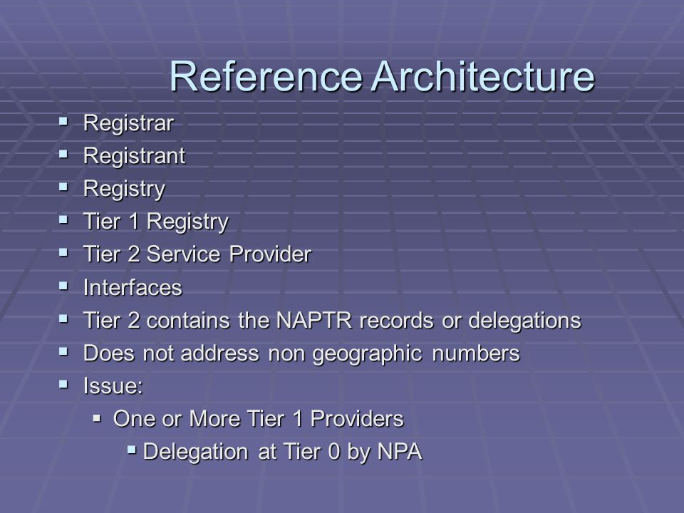 Timeline  Feb 2003 – Baseline Specification released  Meetings through 2003  Dec 2003 – Release of 'Tier 1 Contracting Entity and Architectural Alternatives' a.k.a.