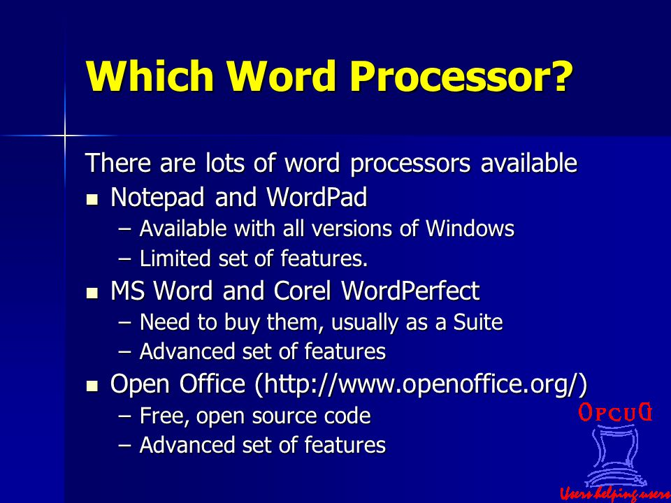 Which Word Processor.