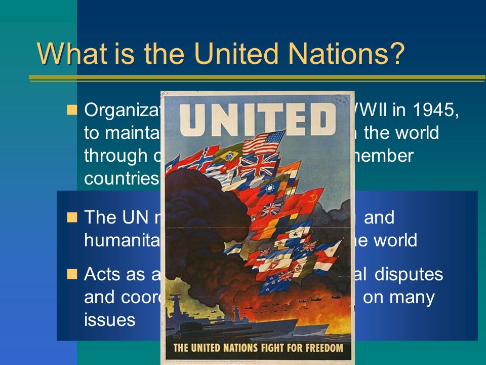 What is the United Nations.