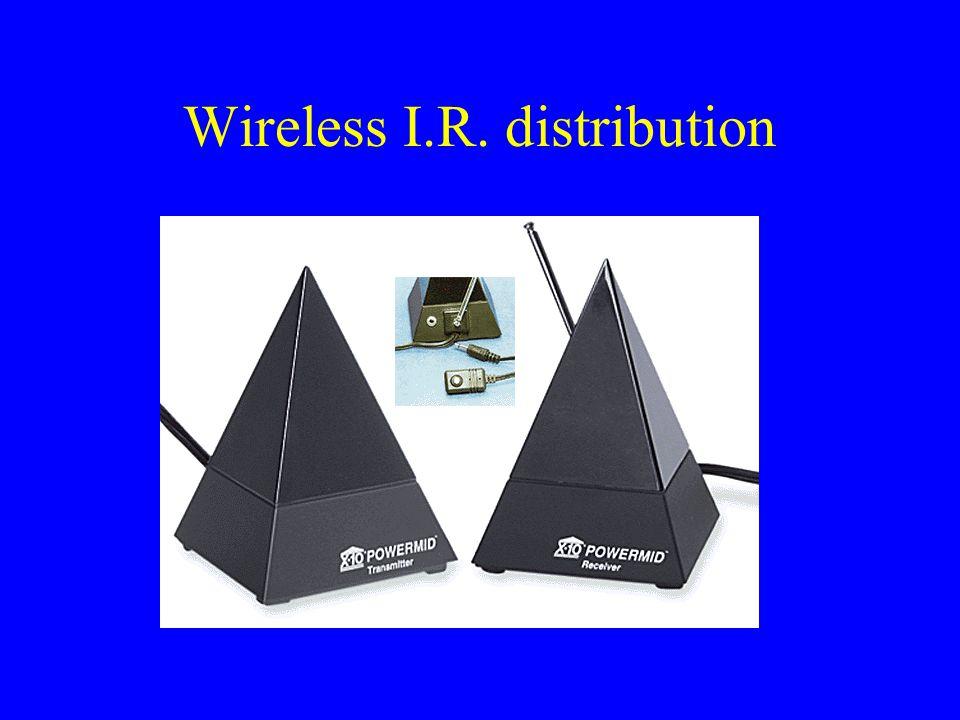 Wireless I.R. distribution