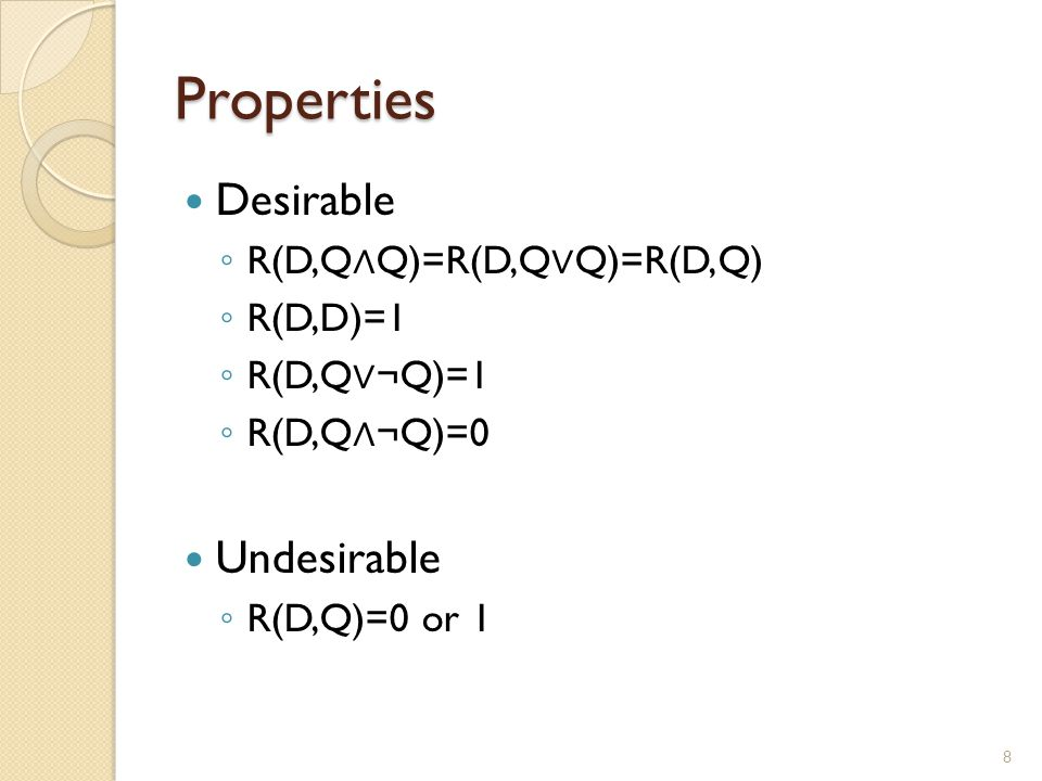 Boolean model Strengths ◦ Rich expressions for queries ◦ Clear logical interpretation (well studied logical properties)  Each term is considered as a logical proposition  The ranking function is determine by the validity of a logical implication Problems: ◦ R is either 1 or 0 (unordered set of documents)  many documents or few/no documents in the result  No term weighting in document and query is used ◦ Difficulty for end-users for form a correct Boolean query  E.g.