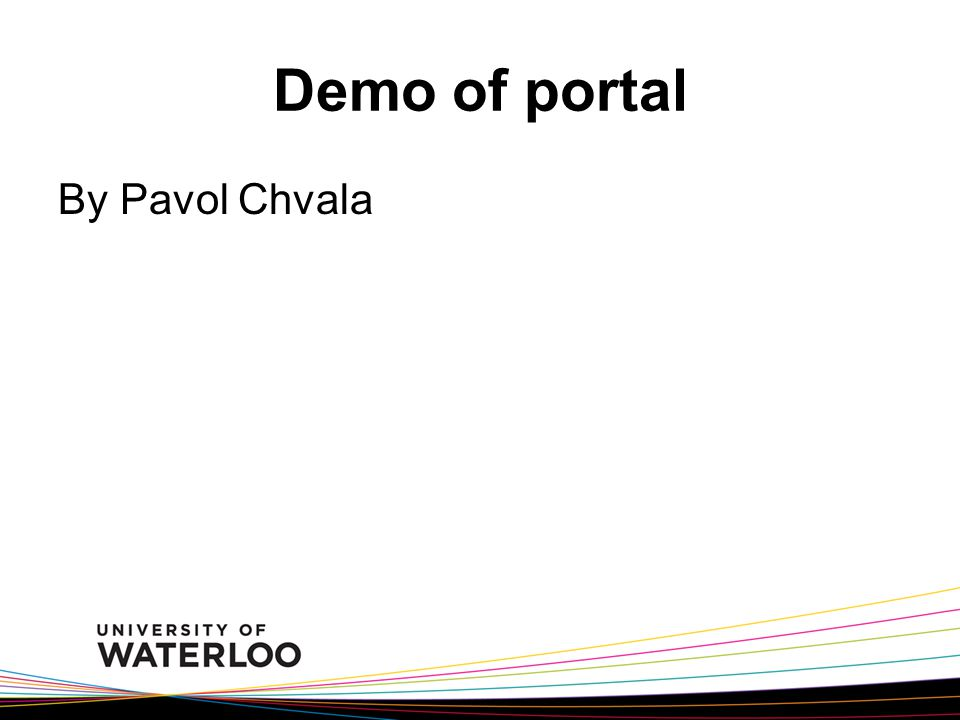 Demo of portal By Pavol Chvala