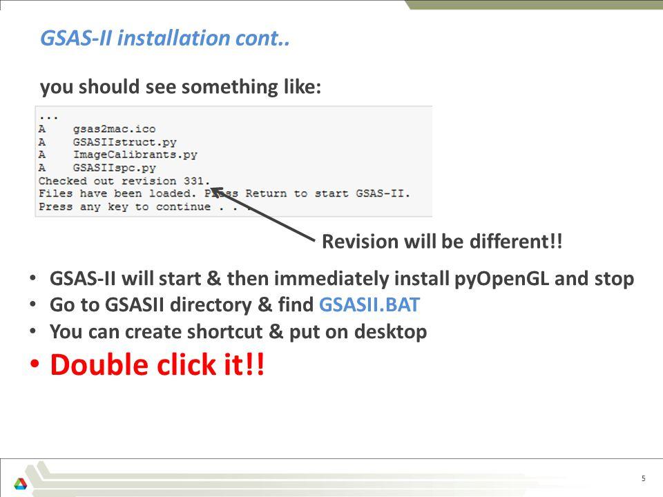 GSAS-II runs! 6 GSAS-II plot window Data Tree window Data Window console Tutorials under Help