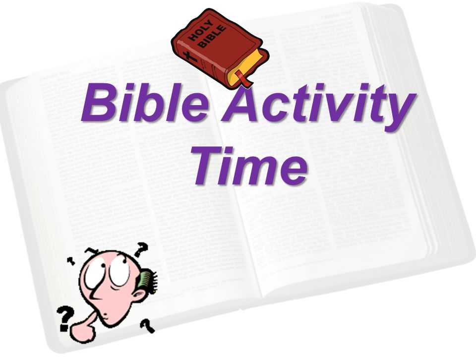 Bible Activity Time