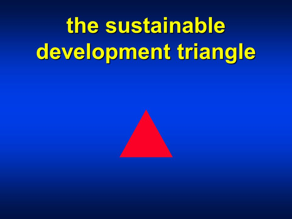 the sustainable development triangle
