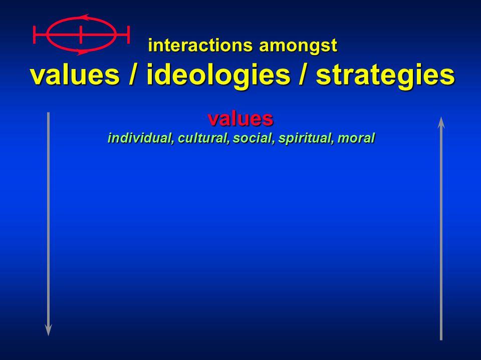 values individual, cultural, social, spiritual, moral