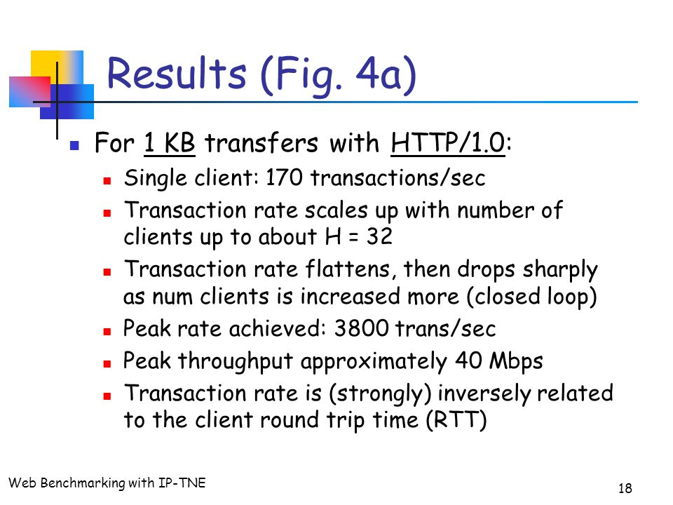 Web Benchmarking with IP-TNE 18 Results (Fig.