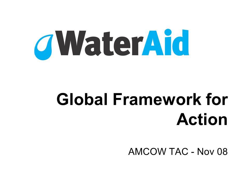 Global Framework for Action AMCOW TAC - Nov 08