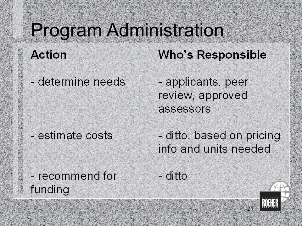 27 Program Administration