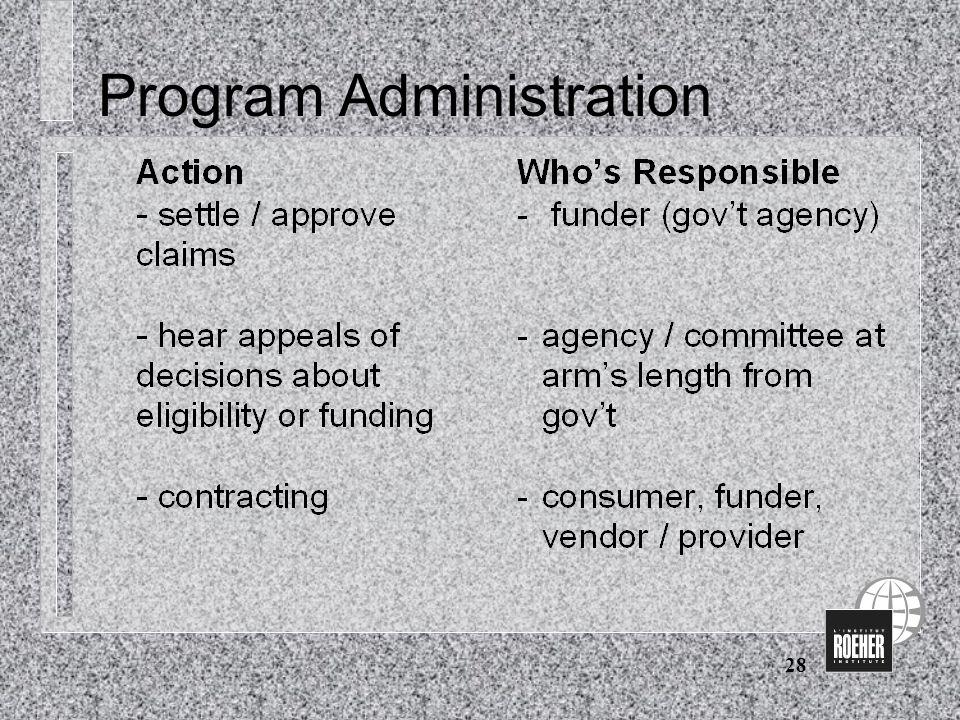 28 Program Administration