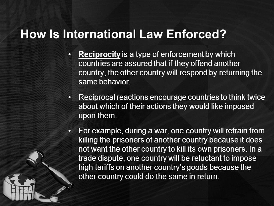 How Is International Law Enforced.