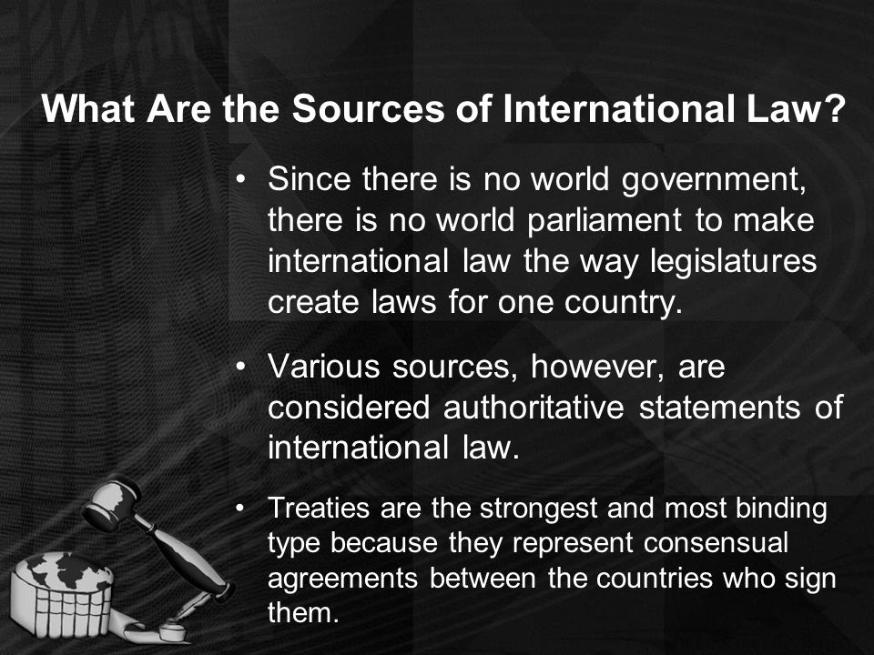What Are the Sources of International Law.