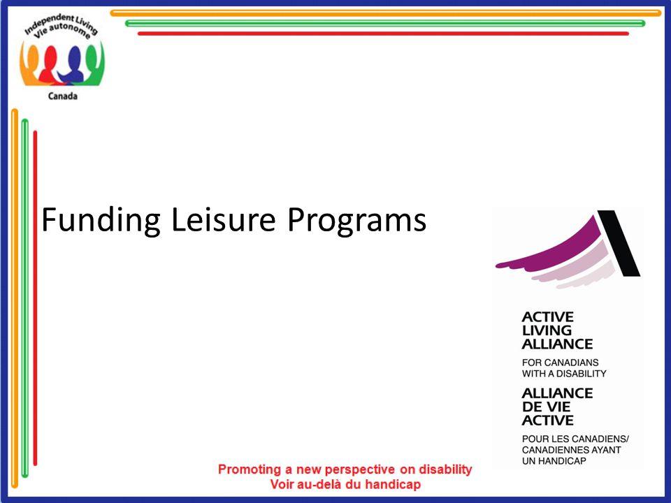 Funding Leisure Programs