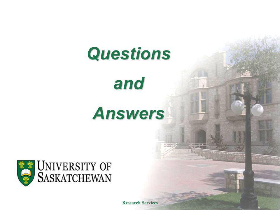 Questions and Answers Research Services
