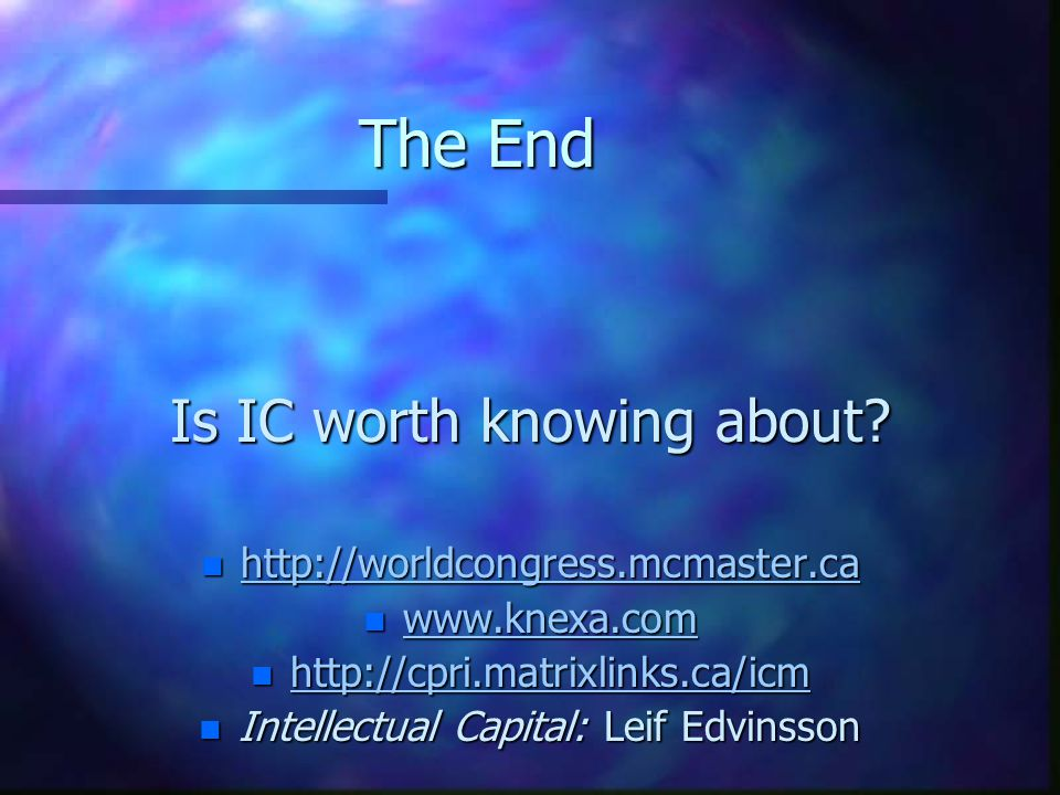 The End Is IC worth knowing about.