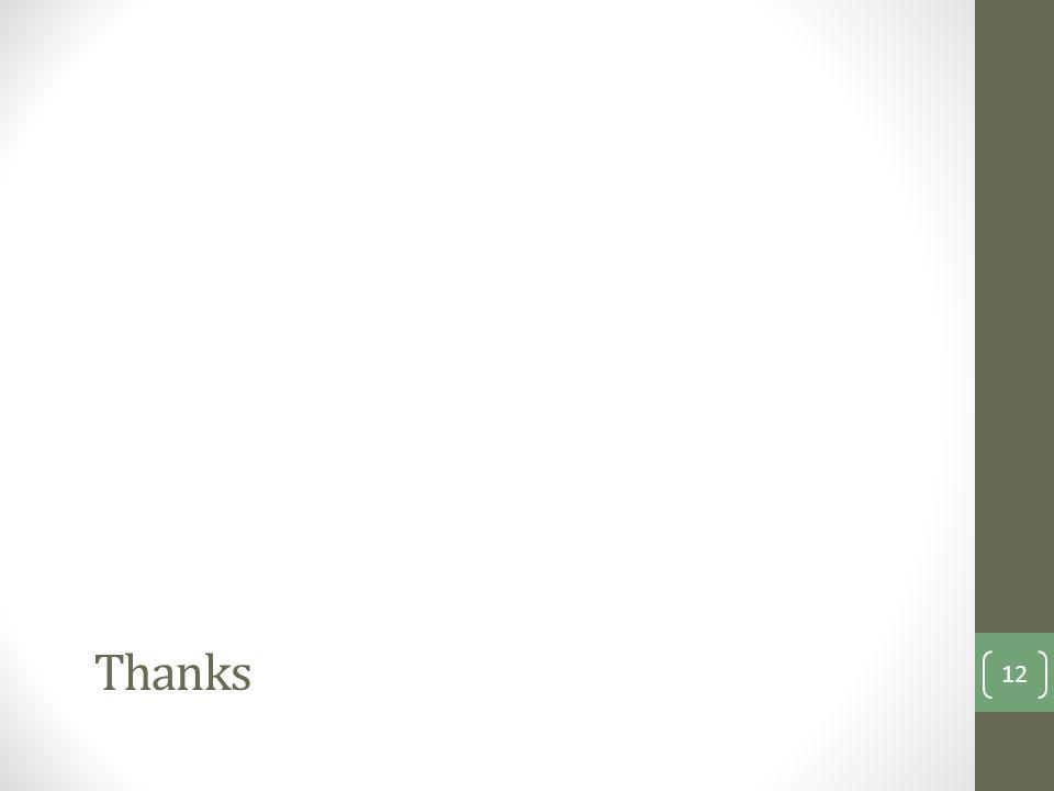 Thanks 12