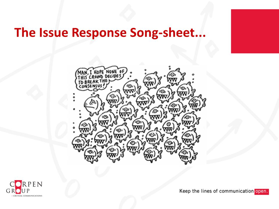 The Issue Response Song-sheet...