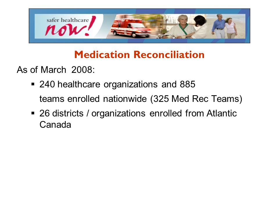 Why Medication Reconciliation.