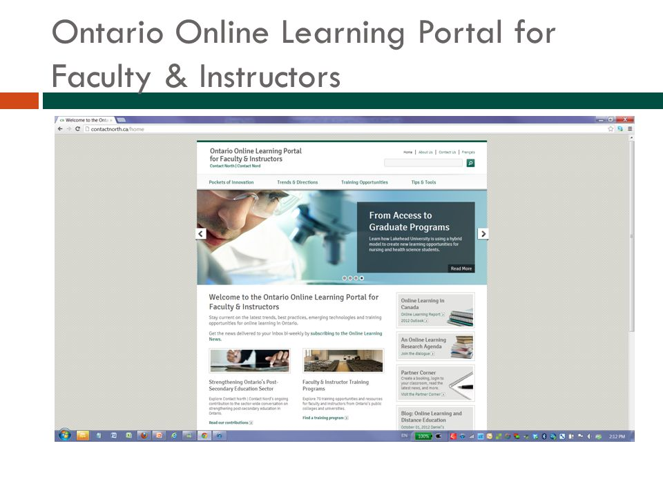 Ontario Online Learning Portal for Faculty & Instructors