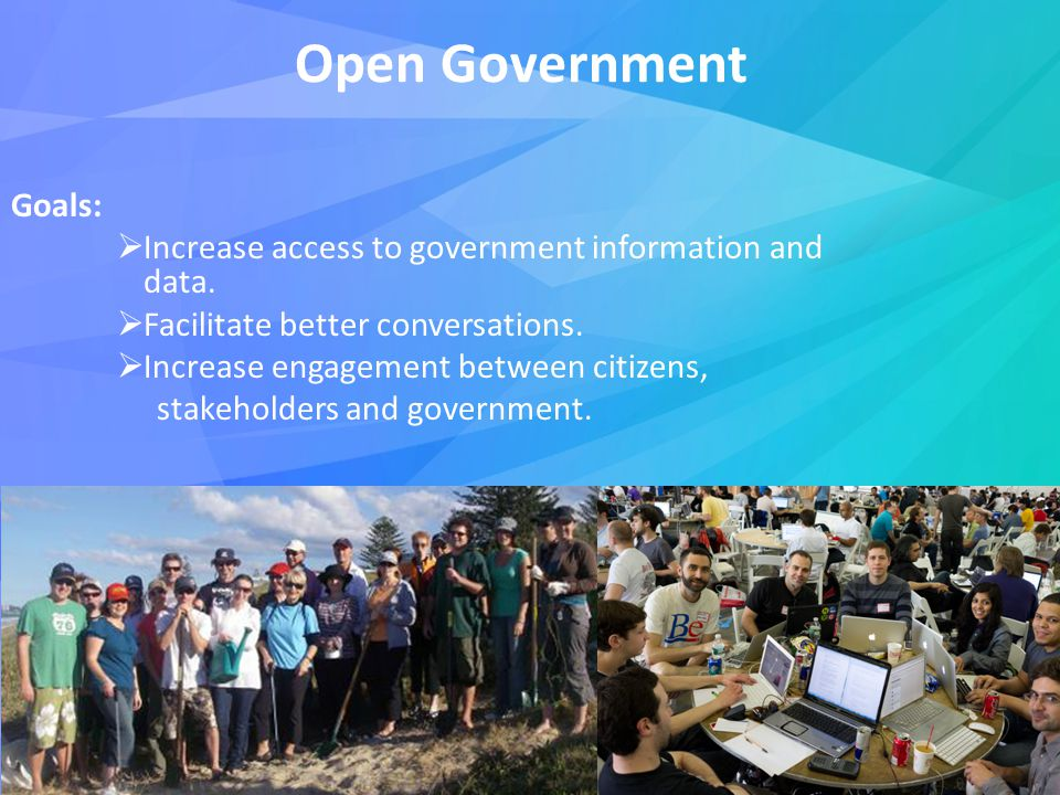Open Government Goals:  Increase access to government information and data.