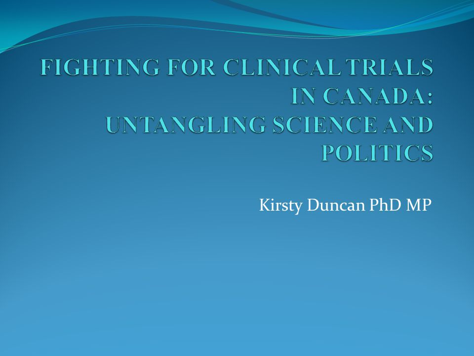 Kirsty Duncan PhD MP