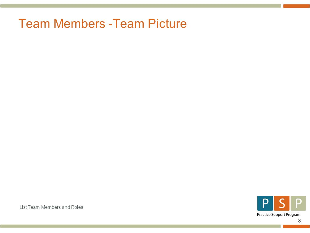 3 List Team Members and Roles Team Members -Team Picture