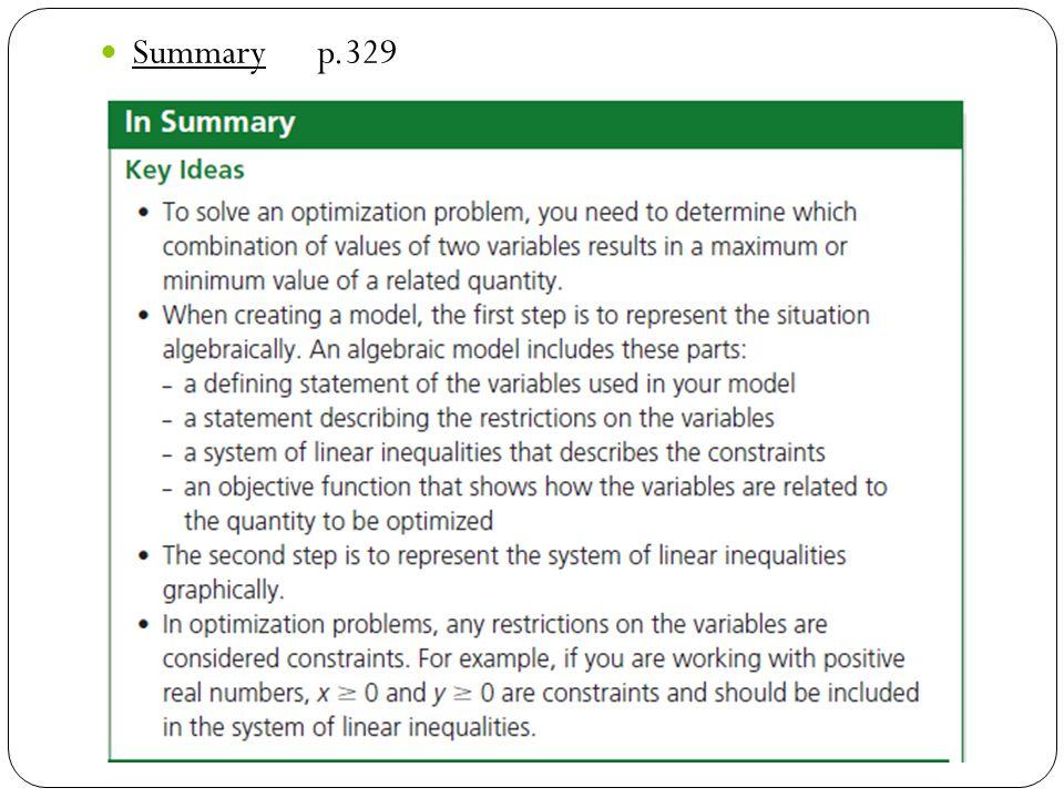 Summary p.329