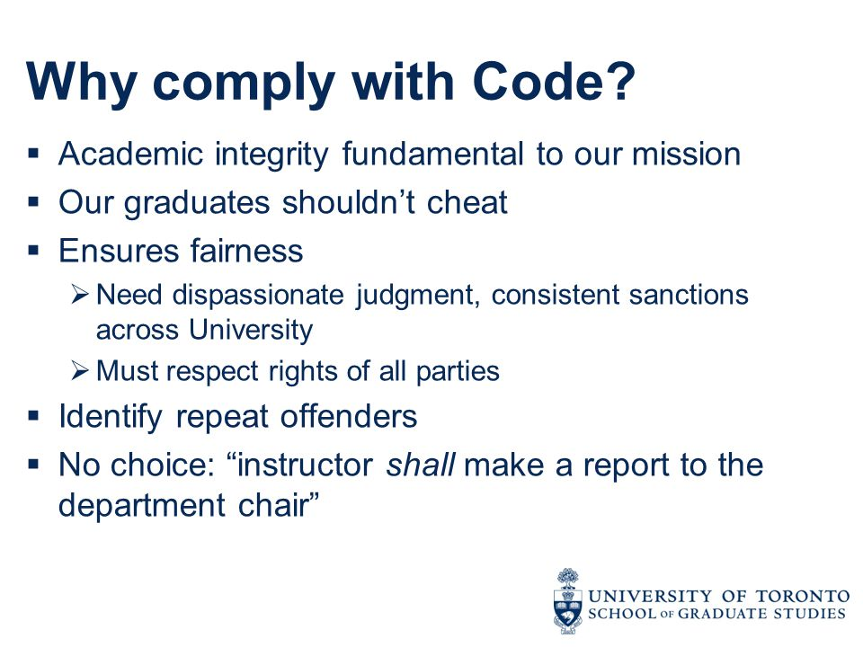 Why comply with Code.