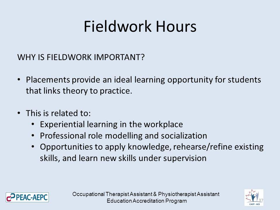 Fieldwork Hours WHY IS FIELDWORK IMPORTANT.
