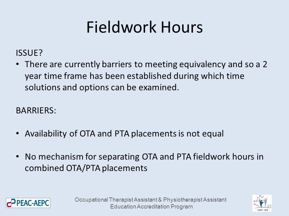 Fieldwork Hours ISSUE.