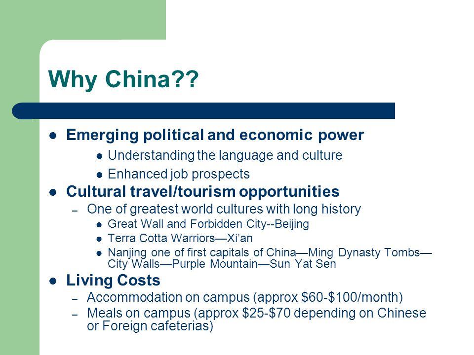 Why China .