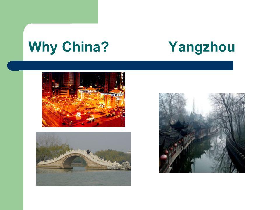 Why China Yangzhou