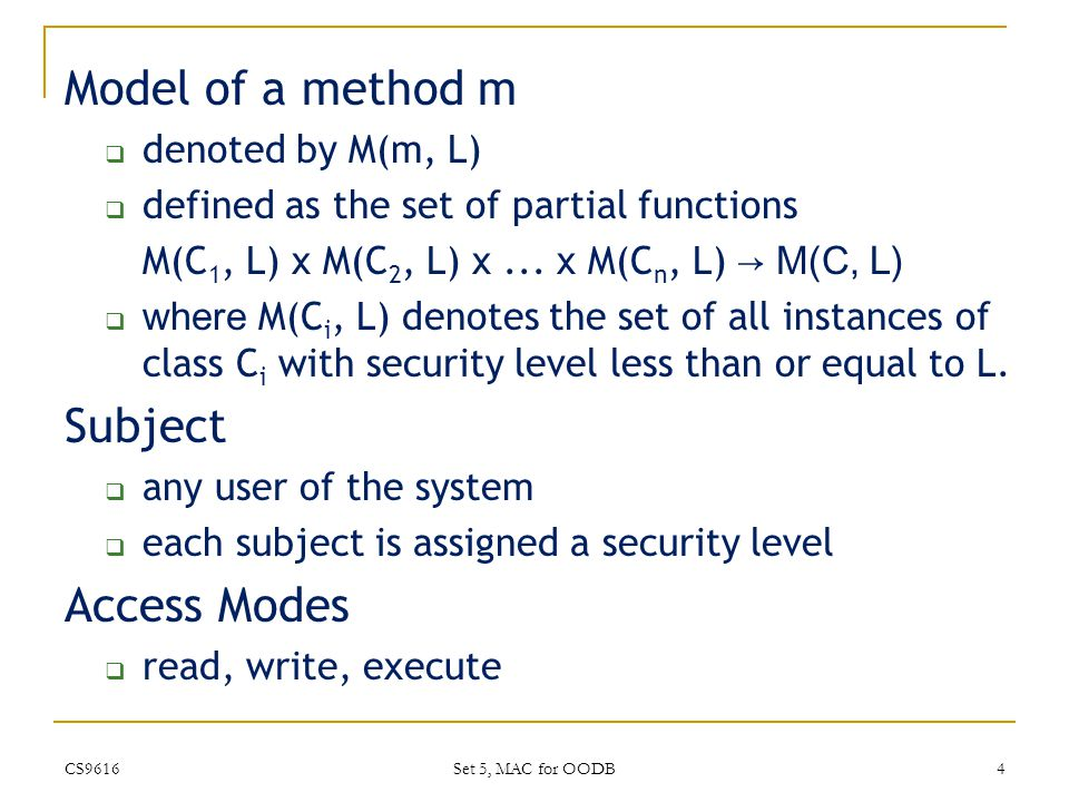 Security Policy for SORION 1.
