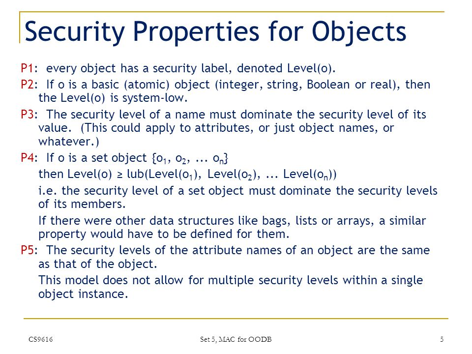 Security Policy for SORION 5.