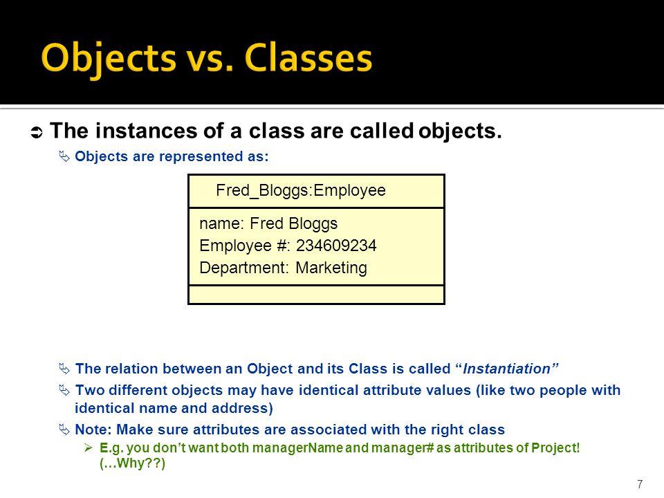 Objects vs.