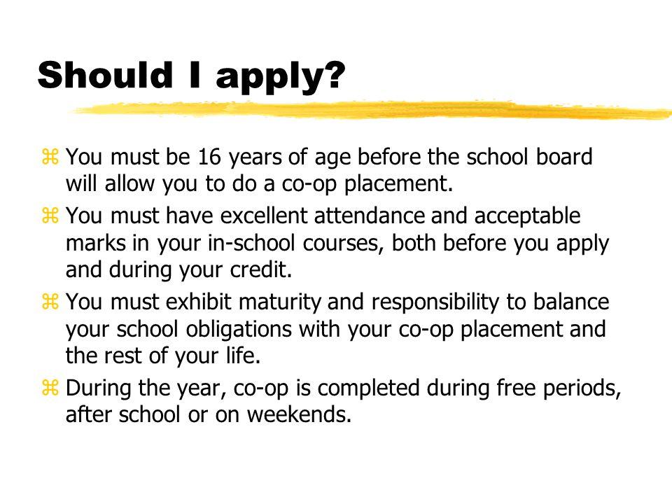 Should I apply.