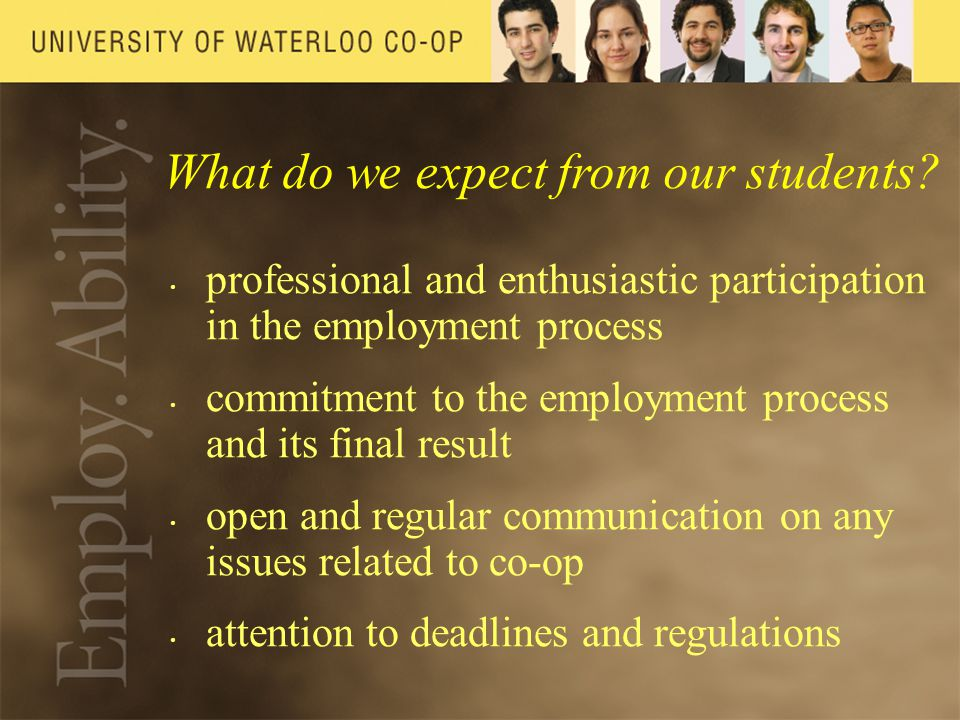 What do we expect from our students.