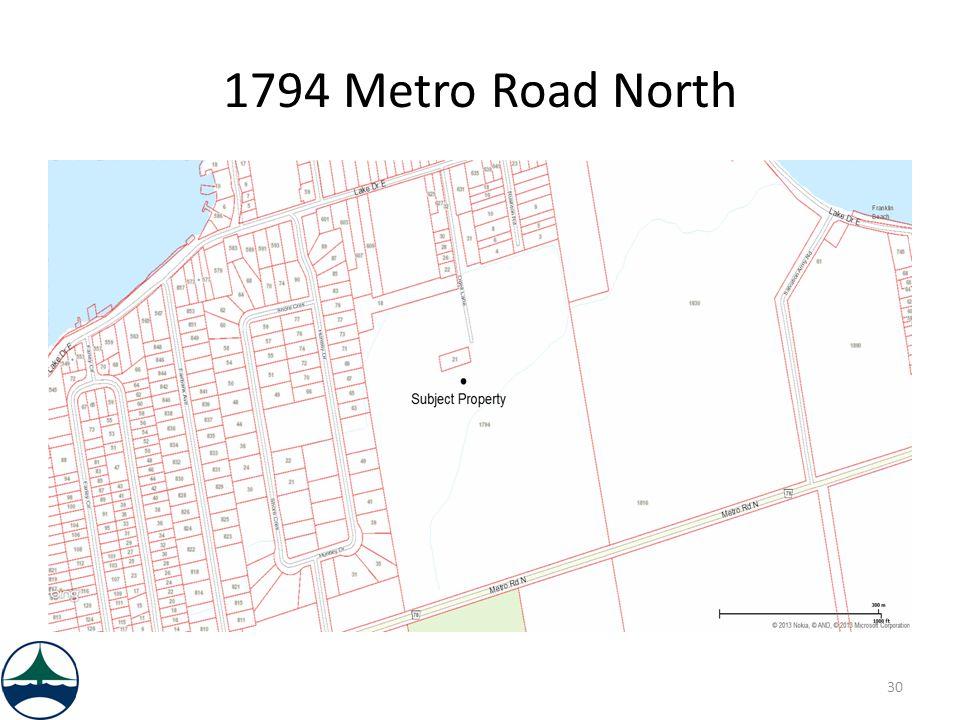 1794 Metro Road North 30