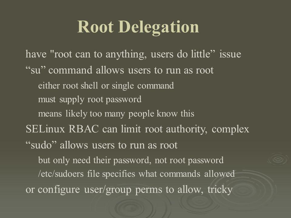 Root Delegation have