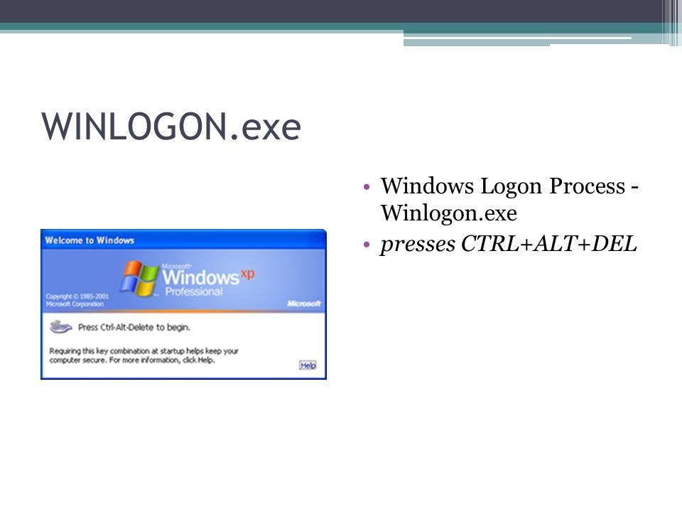 WINLOGON.exe Windows Logon Process - Winlogon.exe presses CTRL+ALT+DEL