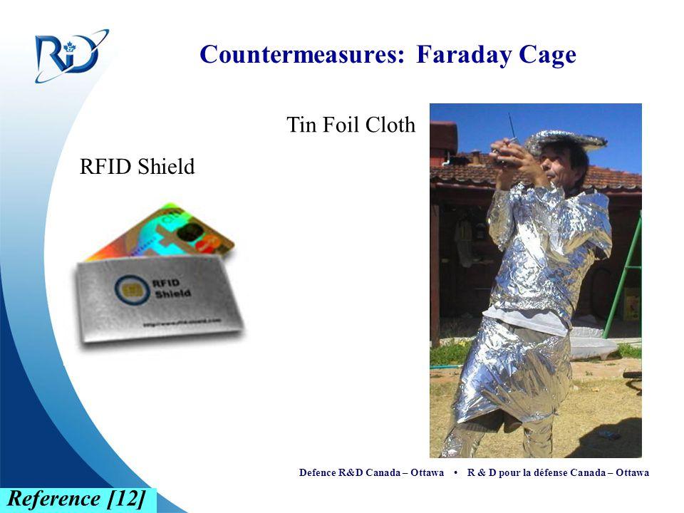 Defence R&D Canada – Ottawa R & D pour la défense Canada – Ottawa Countermeasures: Faraday Cage RFID Shield Reference [12] Tin Foil Cloth