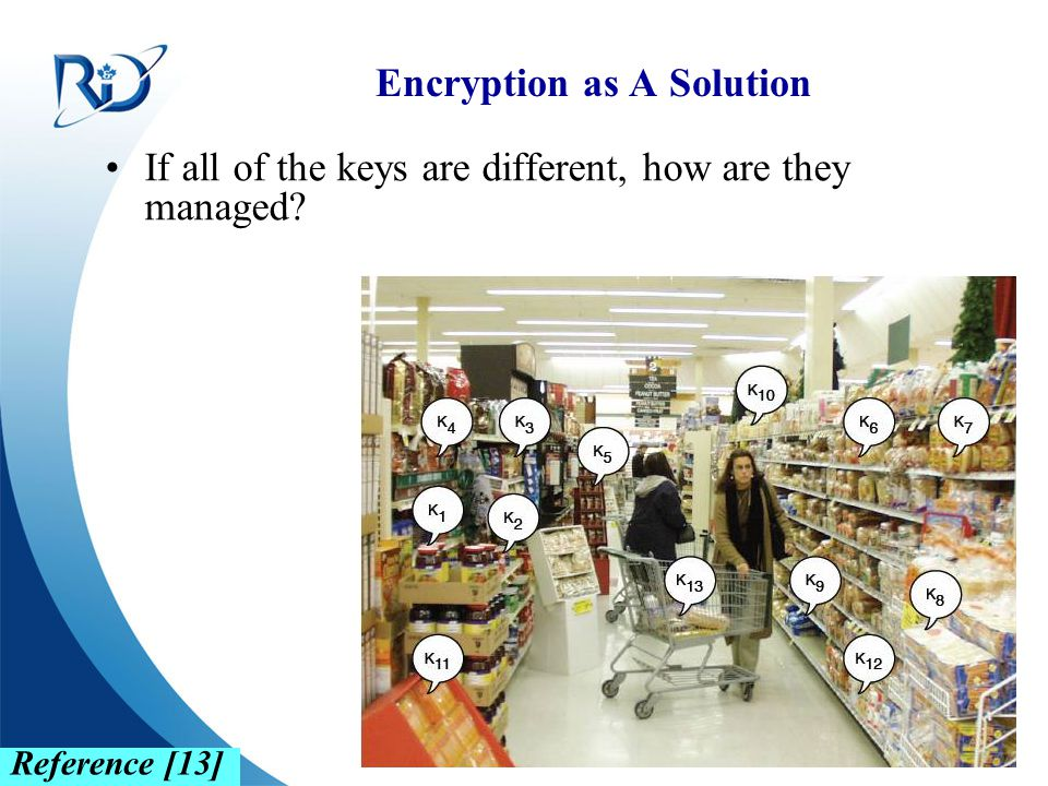 Defence R&D Canada – Ottawa R & D pour la défense Canada – Ottawa Encryption as A Solution If all of the keys are different, how are they managed? Ref