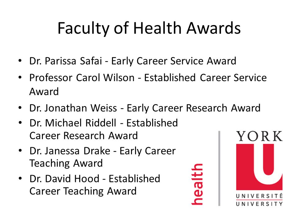 Faculty of Health Awards Dr.