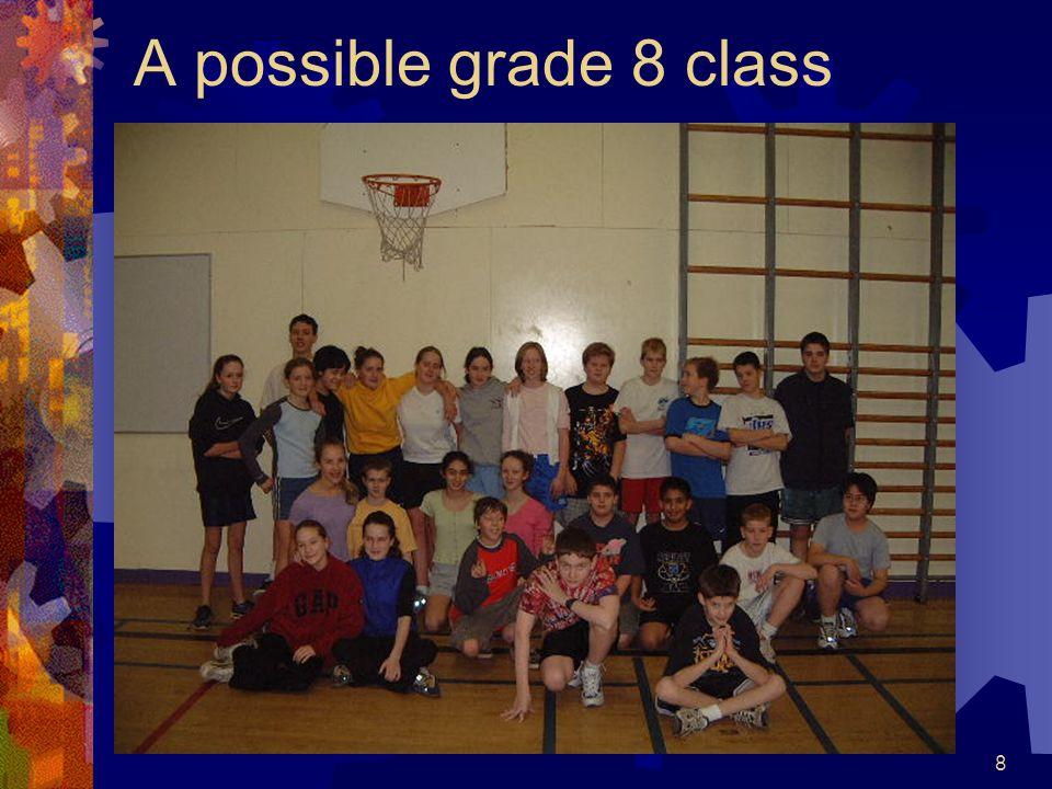 8 A possible grade 8 class