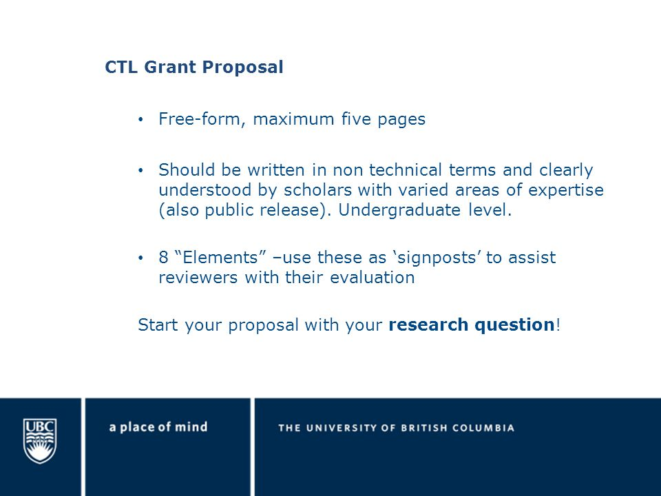 Research goals- be reasonable, given time frame- link goals to your research question Rationale- why its important, how does it support Okanagan strategic research plan.